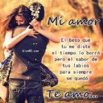 Fotos con palabras de un amor y un beso