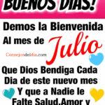Frases bienvenido mes de Julio