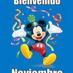 Imagenes lindas con mensajes de Bienvenido noviembre