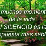 Mensajes con frases bonitas del Silencio