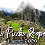 Machu Picchu volvera a recibir turistas desde este 1 de Marzo