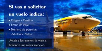 solicitar vuelos