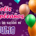 Feliz cumpleaños Julio con imagenes y frases